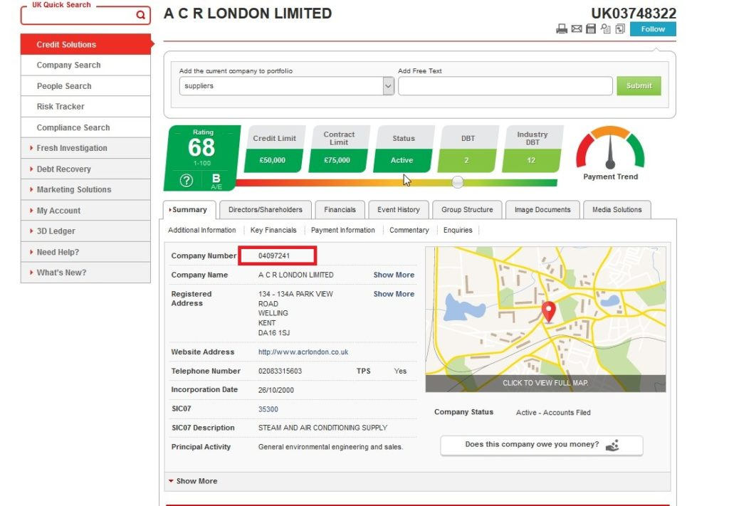 Information About ACR London Ltd from Companies House